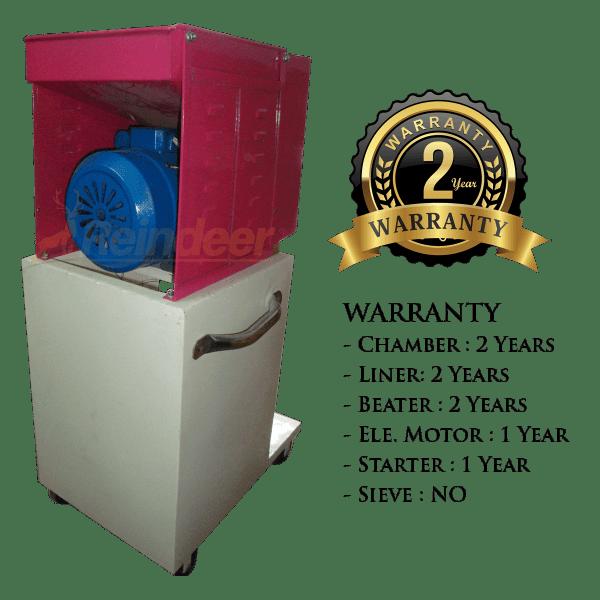 2hp ms 2 in 1 heavy pulveriser warranty