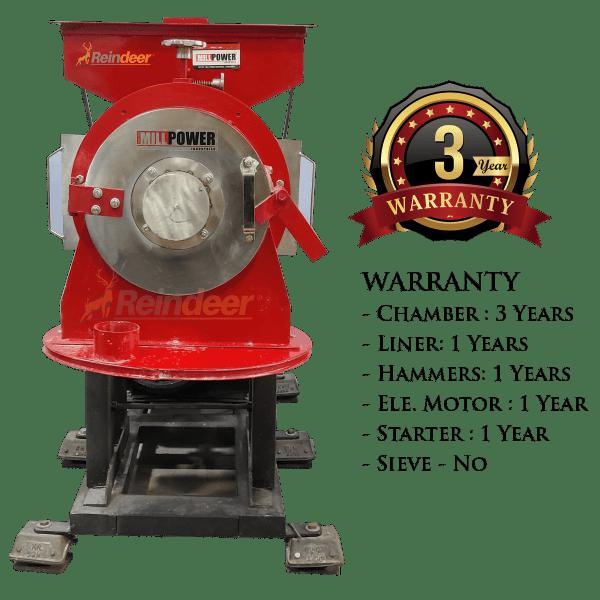 dual stage pulverizer ms warranty