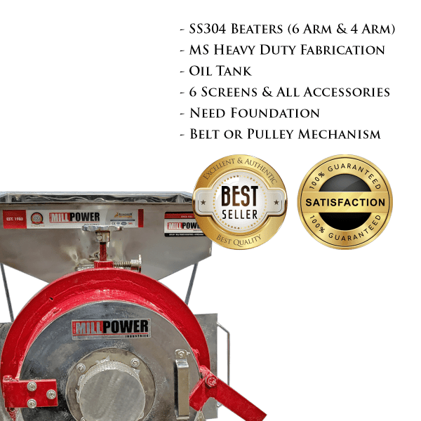 quality of 5hp dual stage pulverizer ms