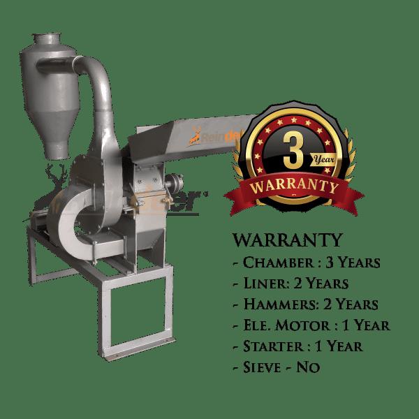 blower pulverizer ms warranty