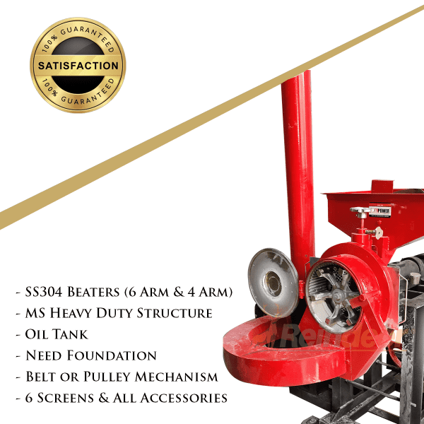 features of dual chamber pulverizer with blower