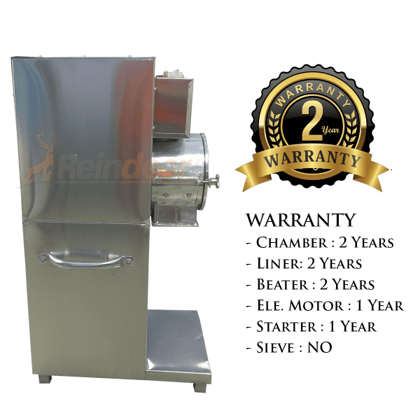 heavy pulveriser warranty