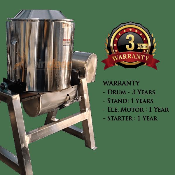 roasting and drying machine warranty