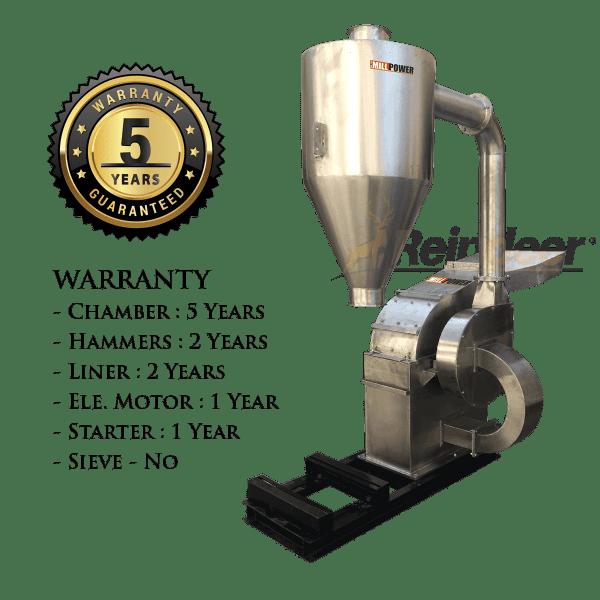 ss blower pulverizer heavy 5 year warranty