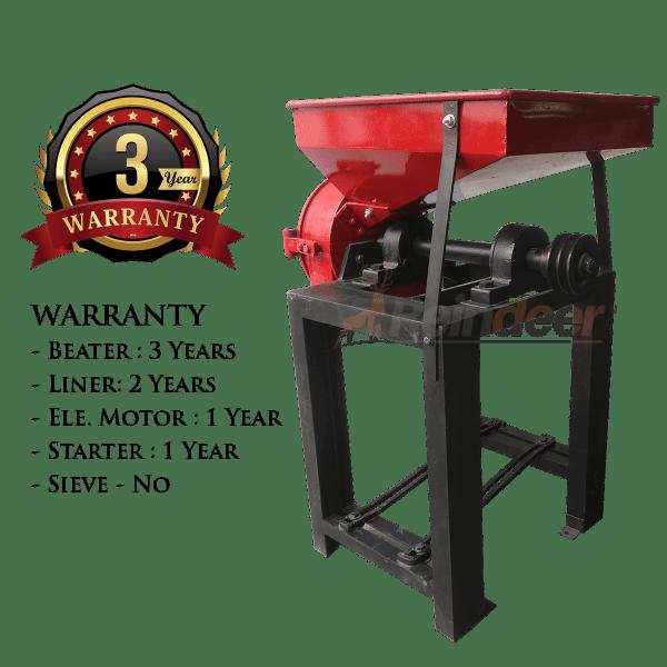 warranty for ms hammer pulverizer